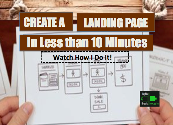 how to create a landing page with wix